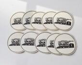 Tennessee Coasters Souvenir Coasters Train Coasters 1950s Chattanooga coasters Set of 8 Travel coasters