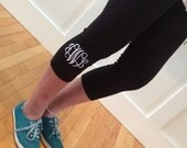 SALE - PERSONALIZED Yoga Pants - embroidered - leggings - monogrammed - Capri
