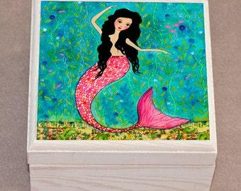 Dancing Mermaid Jewelry Box, Mermaid Jewelry Box, Trinket box