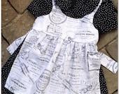 Vintage French Inspired Girls Apron dress Etsykids team