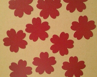 Soft Pale Red Cherry Blossom Die Cuts