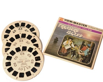 Vintage View Master Story Reel 1958 Treasure Island...SALE was 15.00