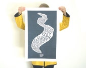 SECONDS Shipping Forecast and Cuppa Tea Towel Dish Kitchen Screenprinted