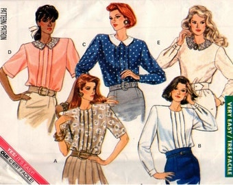 Vintage UNCUT Butterick Classics Pattern 6609 - Misses Very Easy Blouse - 8-12