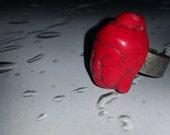 Red Adjustable Buddha Ring