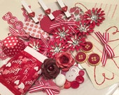 Inspiration Kit, Valentine, Die Cuts, Cardstock, Holidays, Cards, Tags, Paper Crafting, Mixed Media, RED and WHITE