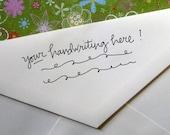 Handgeschriebene Adresse Stempel (in Ihrem Schreiben!)