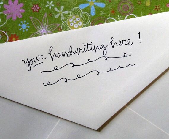 Handwritten Address Stamp (in your writing!)