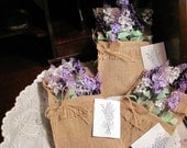 Burlap and Lavender Wall Hanging Decor, Artificial Lavender in Burlap Bag