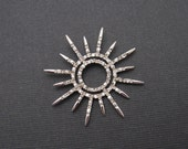 Sterling CZ Pendant Starburst Jewelry C6199