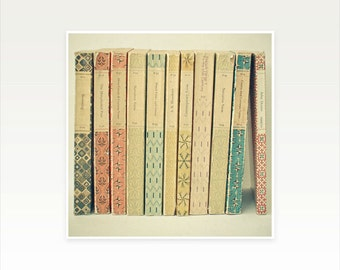 Book Art, Gift for Book Lover, Fine Art Photography, Literature Art, Library Decor, Neutral Colours - Old Books