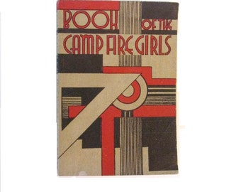 Book of the Camp Fire Girls - 1944 - Art deco cover design - Good vintage condition