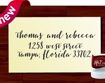 Modern Calligraphy Address Stamp / Returning Address Calligraphy Stamp / Handwriting Stamp / Return Address Stamp / Return to Stamp (1281W)