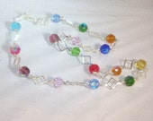 Celestial Crystal Jewelry - Rainbow Colors - Multicolored - Silver - Necklace