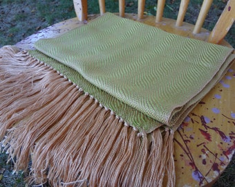 Cirrus Goldenrods Handwoven Scarf