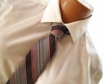 Vintage Tie Wide Tie 1970s Striped Tie 70s Necktie Father's Day