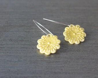 porcelain flower earrings