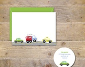 Baby Thank You Cards . Baby Shower Thank You Cards . Trucks . Cars . Baby Boy . Taxi . Taxi Cab- Beep Beep