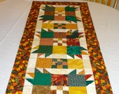 Quilted Fall Table Runner in Traditional Patchwork