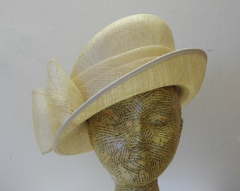 Sample SALE - Mother Of The Bride Hat - Ivory- Natural