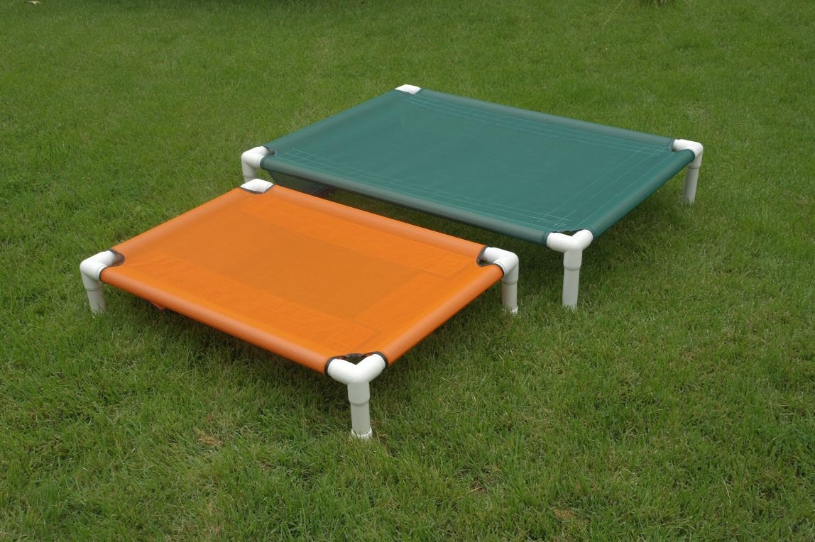Raised bed large orthopedic dog bed pvc cot outside bed for Pvc cat bed