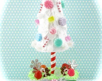 Candy Land Gumdrop Tree with Frosting Base. CandyLand Christmas Decor. Holiday Centerpiece.12 Legs Signature Etsy Design.