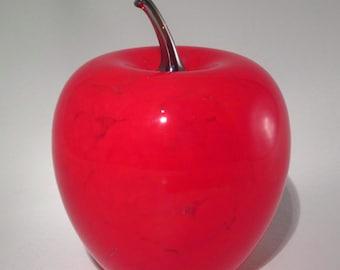 Handblown Art Glass Apple