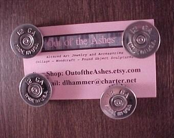 Bullet Magnets 12 Gauge Shotgun Shell Repurposed Recycled
