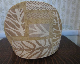 Modern Leaf Design Tea Cozy in Golds and Tans