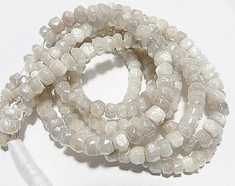 Mystic Moonstone Gemstone. Faceted Rondelle   Semi Precious Gemstone. 4mm. Your Choice Strand (1mn) SALE - Was