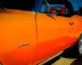 1967 Chevrolet Camaro Orange Fine Art Print- Photography, Car Art, Antique Car, Home Decor, Nursery Decor, Wall Art, Vintage Car, Automobile