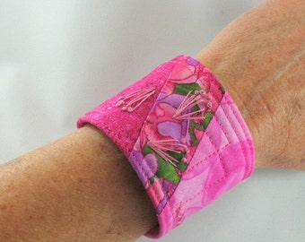 Fabric Cuff, Pink for Breast Cancer Awareness