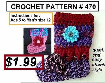 crochet pattern, slippers, 470,  boot style, toddler, children, teens, adults, women, men, boys, accessories, clothing, instant download