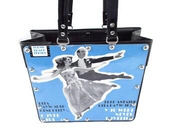 SALE! Fred Astaire and Rita Hayworth Handbag Vintage Vinyl Record Repurpose