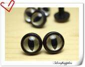 16 mm Clear  Safety eye amigurumi eye doll eyes cat eye 12 pieces  EA16