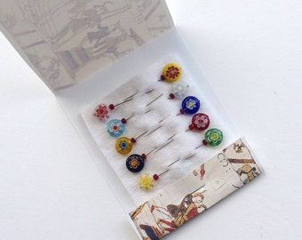 Flower Map Pins - Lollipop Pins - Embellishment Pins - Pincushion Pins - Bulletin Board Pins - Tack Board Pins - Sewing Accessory