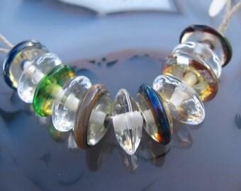 Handmade Lampwork Disk Beads by Tamara Ashlock