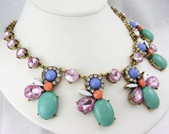 Bejeweled Collar Bib Necklace