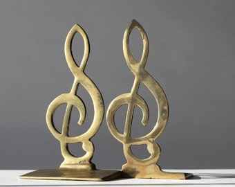 Twisted metal hooks by tippleandsnack on etsy - Treble clef bookends ...