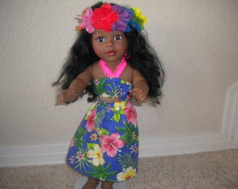 Hawaiian Outfit for American Girl Doll or most 18 inch Dolls