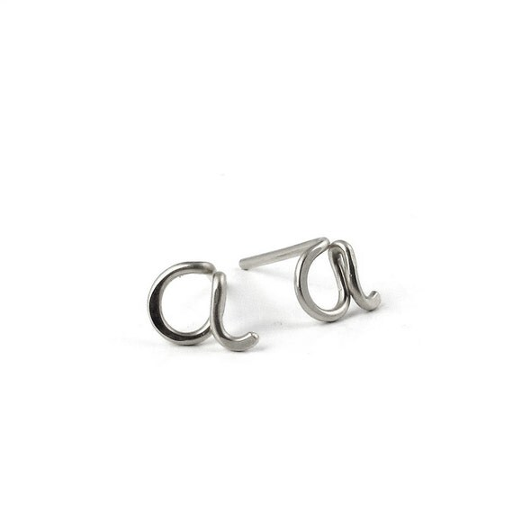Custom Initial Post Earrings-any initials available