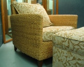 """D*R*O*P**D*E*A*D**G*O*R*G*E*O*U*S """"XLNT"""" Condition Designer One Of A Kind Home Furnishings Nancy Corzine Seagrass Club Chair And Ottoman"""