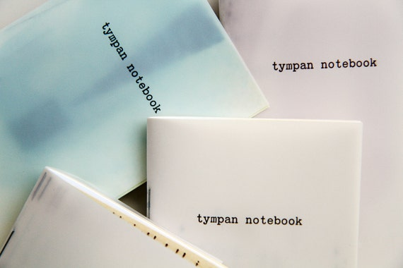 Tympan notebook - letterpress printed cover