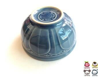 Ceramic Bowl, blue, flower, flower bowl, rice bowl, soup bowl, sauce, round, mini, small, decoration, bowl, bali, thai, luxury, lotus