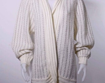 Vintage 1980's cardigan, long sweater, duster sweater by Marella size small to medium shipping included within Canada and U.S.A