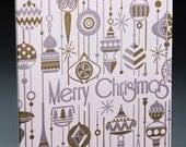 Letterpress Christmas Greeting Card - Christmas Ornaments (single)
