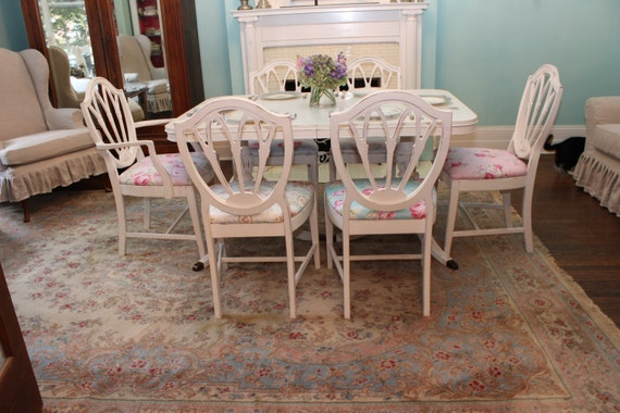 Shabby Chic Dining Room Set Table Chair S White Distressed
