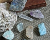 Healing Crystals and Stones // Altar Stones // Wicca // Crystals // Healing Stone Lot // Reiki // Chakra // Rough Stone // Crystal Healing