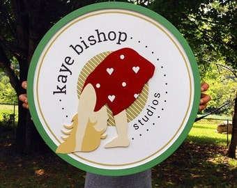 Custom 2FT Round Wood Sign For Home or Business