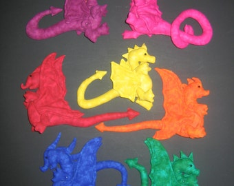 e-Pattern - Dragon - Rainbow Dragons - 7 designs, 2 different wings, easy to make